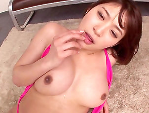 Japanese,Asian,Big tits,Blowjob,Cum in mouth,Cum swallow,Cumshot,Natural tits,POV,Riding,Teen,Young girl,Straight Busty Japanese deals cock in nasty ways