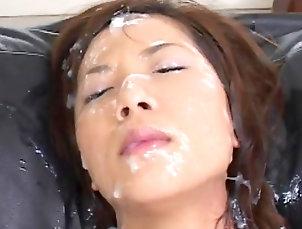 Bukkake,Japanese,Toys,Panties,Masturbation,Hairy,Blowjob,Asian,Facial,Straight Hairy japanese in bukkake orgy