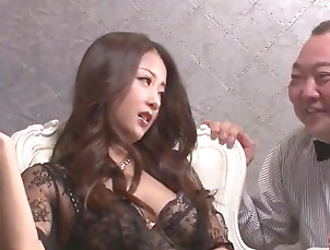 Asian,Japanese,Blowjob,Creampie,Hardcore,Lingerie,Stockings,Straight Asian porn in hardcore with slutty...