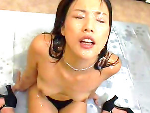Bukkake,Japanese,Hardcore,Hairy,Fetish,Blowjob,Asian,Glasses,Facial,Straight Hairy japanese gets filled with jizz
