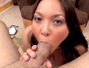 Asian,Stockings,Trimmed pussy,Pornstar,Masturbation,Titjob,Perfect body,Ball licking,Facial,Straight Intense POV blowjob porn scene