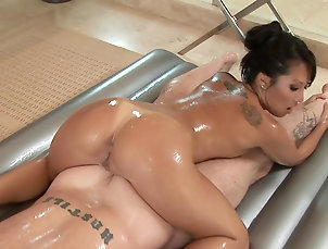 Massage,Shower,Bathroom,Oil,Blowjob,Tattoo,Soapy,Asian,Straight Erotic shower turns wild for Asa Akira