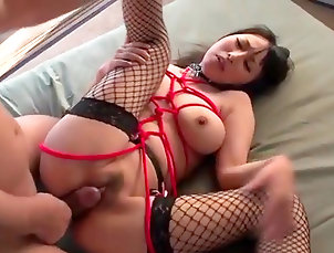Asian,Japanese,Big tits,Blowjob,Bondage,Creampie,Hardcore,Straight Asian with big tits fucked in pure...