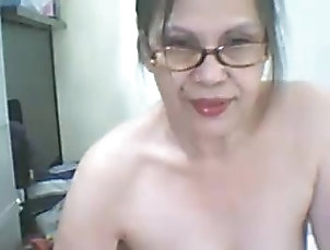 Asian granny plays with dildo Asian granny plays with dildo