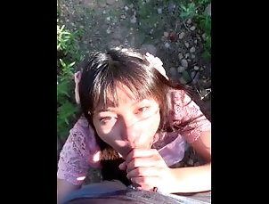 Cute Little Asian Girl Plays with and Rides Daddy's Dick In the Park Cute Little Asian Girl Plays with and...