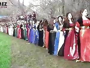 Kurdish dance of beautiful Kurdish women in Kurdish clothes Kurdish dance of beautiful Kurdish...