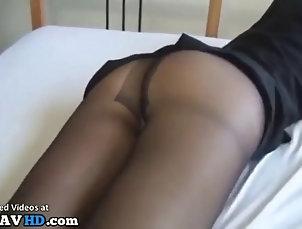 Jav hostess foot fetish sex in black pantyhose Jav hostess foot fetish sex in black...