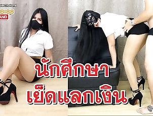Thai University Student women fuck in uniform for money นักศึกษาไทยเย็ดแลกเงิน Thai University Student women fuck in...