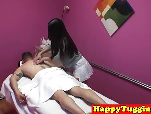 Asian;Handjobs;Massage;Happy Tugs;HD Videos;Asian Masseuse;Tugging;Masseuse;Asian Fucking;Fucking Asian masseuse tugging and fucking...