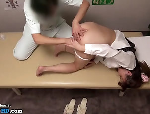 massage;asian;japanese;fingering;pantyhose;sexy;doctor Japanese masseuse cant resist to sexy...