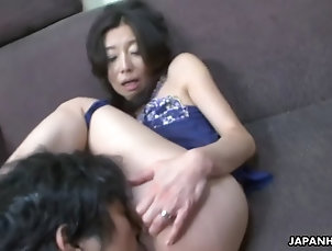 asian;milf;matures;kinky;fetish;panties;hairy;old-young;ass-licking;close-up;armpit;brunette;sex-toys;orgasms;licking;fingering;peeing;japanese Asian mom hosaka yuriko gets her...
