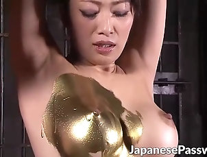 japanese;fetish;babes;feet Strange japanese gold fetish with hot...
