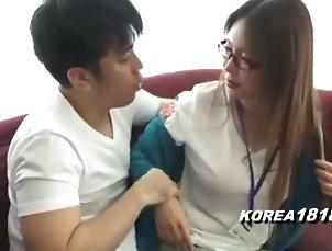 amateur;teens;korean Pretty korean girl in spectacle