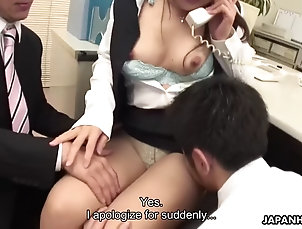 asian;office;orgasms;fingering;peeing;sex-toys;lingerie;pantyhose;ass-licking;chubby;big-tits;japanese Hard worker shino nakamura makes...