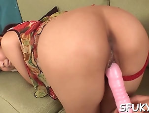 asian;blowjobs;hardcore;japanese;peeing;slut Slut self pleasures her tight cunt
