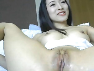 Asian;Masturbation;Squirting;Asian Dildo;Squirts Asian Hottie Squirts with Dildo
