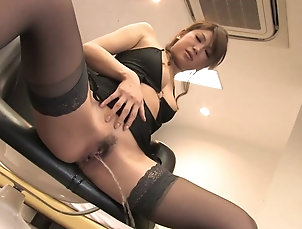 Sexy babe in stockings rubs her pussy lips solo Sexy babe in stockings rubs her pussy...