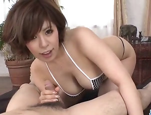 Asian;Bikini;Blowjobs;Japanese;MILFs;POV Style;Jav HD Ririsu Ayaka blows tasty cock in POV...