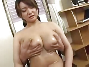 Asian Big Tits oiled and fingered (censored) Asian Big Tits oiled and fingered...