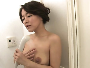 Nylon;Japanese;MILFs;Brunettes;Hairy;Tits;HD Videos Brunette with natural tits eats...