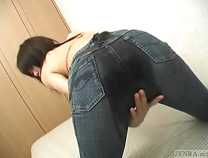 Amateur;Asian;Foot Fetish;Footjob;Japanese;Oiled up;Japanese Jeans;Japanese Footjob;Jeans;Zenra Subtitled Japanese oiled up jeans...