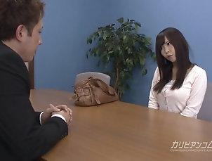 Asian;Big Boobs;Blowjobs;Interview;Job Interview;Sucking Cock;Sucking;Caribbean Com Job interview leads sucking a cock