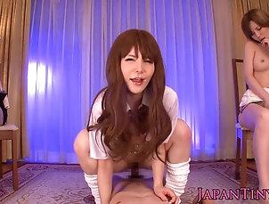 Cumshots;Japanese;Voyeur;Erito;HD Videos;Nippon;Taking Nippon babes taking turn on dick