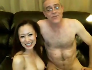 Chinese girl and older white guy Chinese girl and older white guy