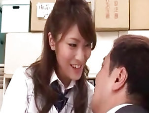 Asian;Office,Asian,Office Office Lady Kissing Guy Body Giving...