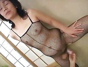 Mature;Asian;BodyStocking,Asian,BodyStocking,Mature Mature Asian Slut Plug Her Pussy...