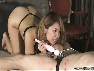 Two Japanese girls whipping and facesitting Two Japanese girls whipping and...