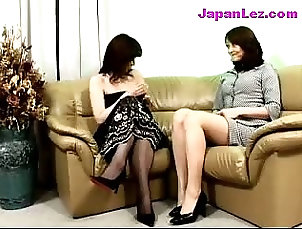 Asian;Lesbian,Asian,Lesbian Mature Lady In Black Dress Getting...