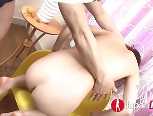 Reika gets her japanese pussy toyed and fingered until she squirts Reika gets her japanese pussy toyed...